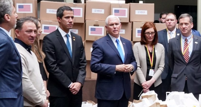 USAID Venezuela Guaido Mike Pence