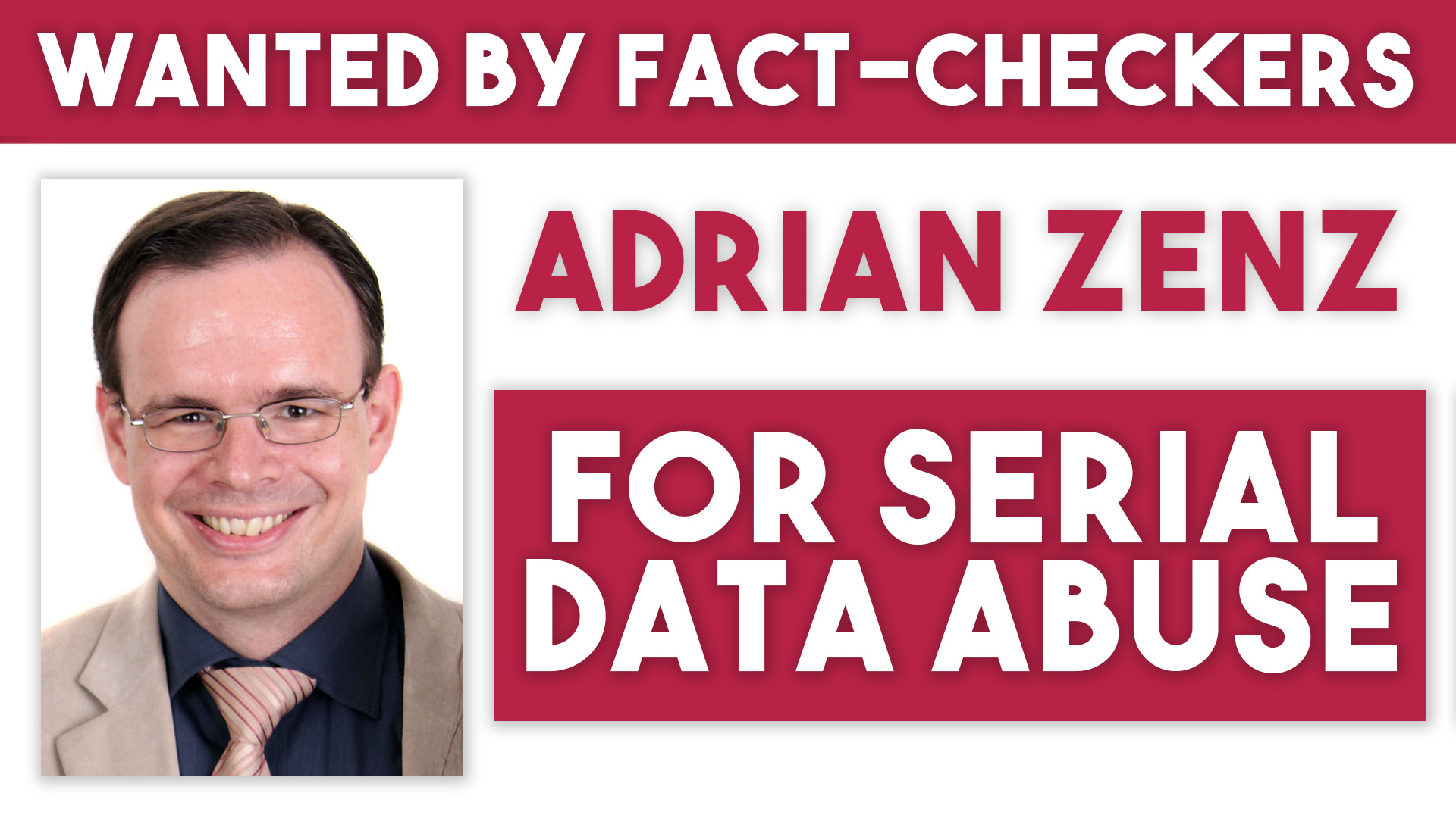 Adrian Zenz China propaganda false data