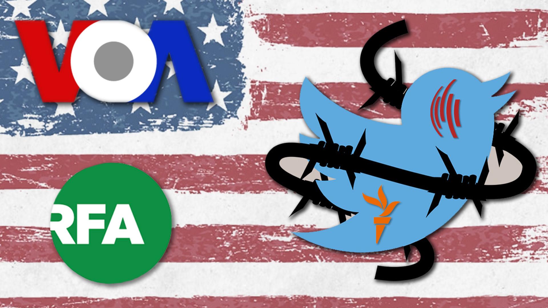 Twitter VOA Persian US state media ads propaganda