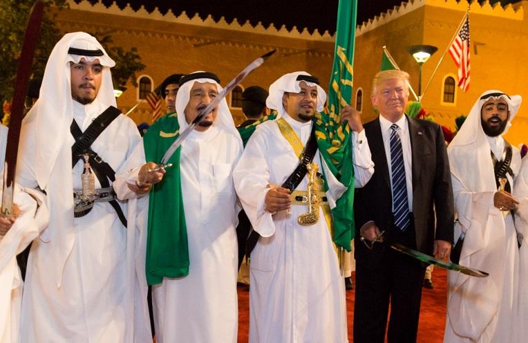 trump saudi king salman swords
